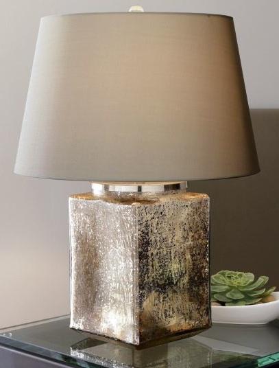 陈旧的水银玻璃台灯