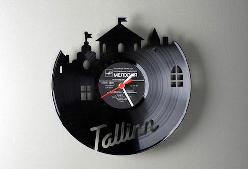 黑胶唱片的原始挂钟