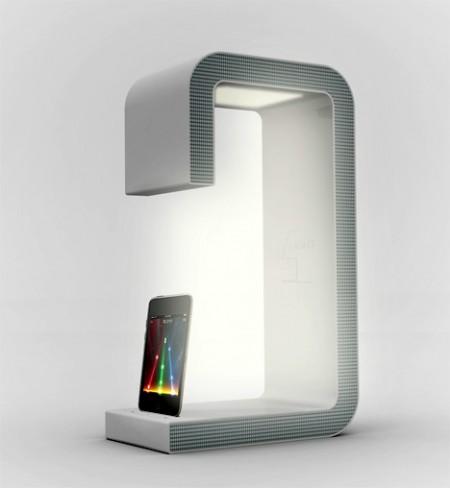 现代灯/带音箱的iPod