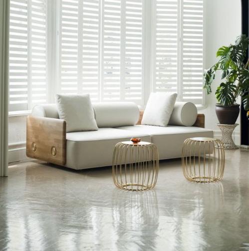 木框装饰沙发