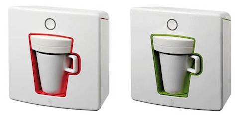 现代咖啡壶的咖啡冰火