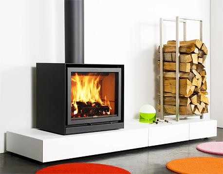 现代家居木材燃烧炉缸