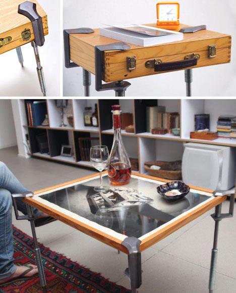 桌子和椅子上的物体