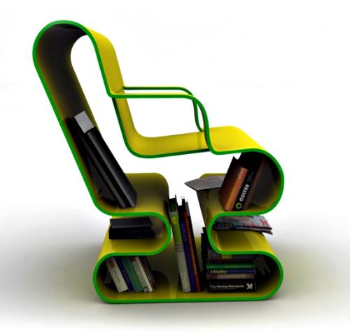 书柜休闲椅