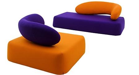 沙发椅五颜六色的家具
