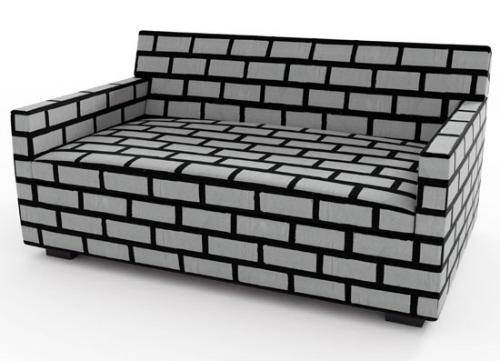 砖和砂浆沙发造型